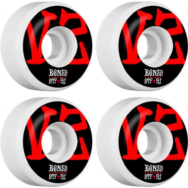 Bones Wheels STF V2 Annuals White Skateboard Wheels - 51mm 103a (Set of 4)