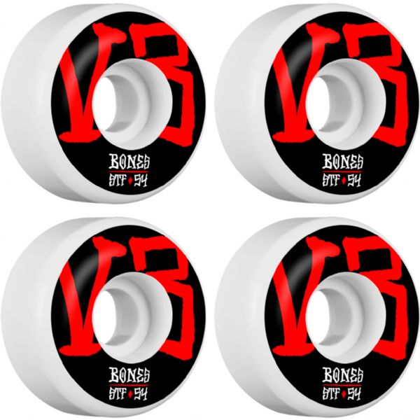 Bones Wheels STF V3 Annuals White Skateboard Wheels - 54mm 103a (Set of 4)