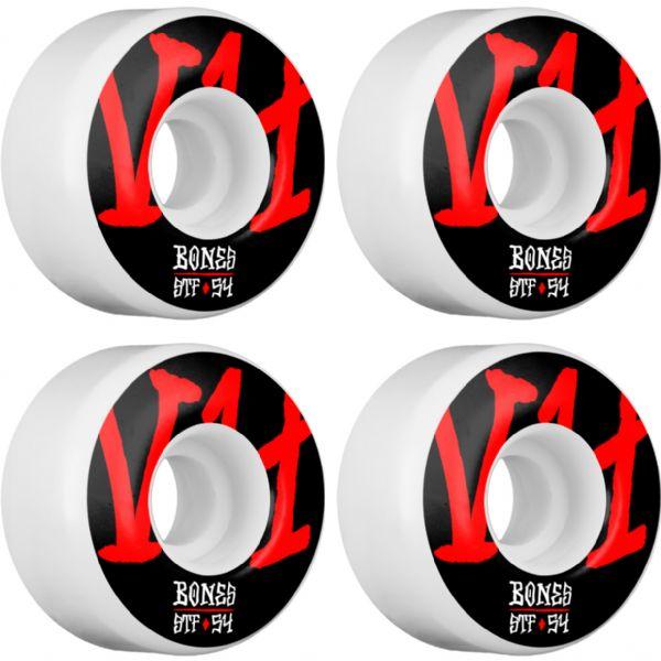Bones Wheels STF V4 Annuals White Skateboard Wheels - 54mm 103a (Set of 4)