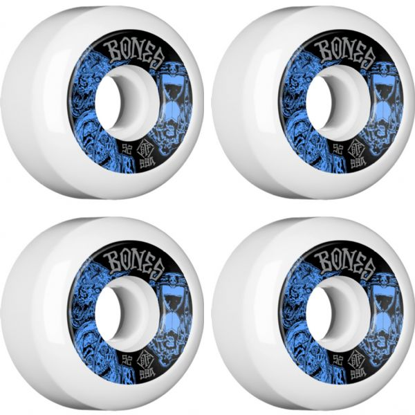 Bones Wheels STF V5 Easy Streets Time Beasts White Skateboard Wheels - 52mm 99a (Set of 4)