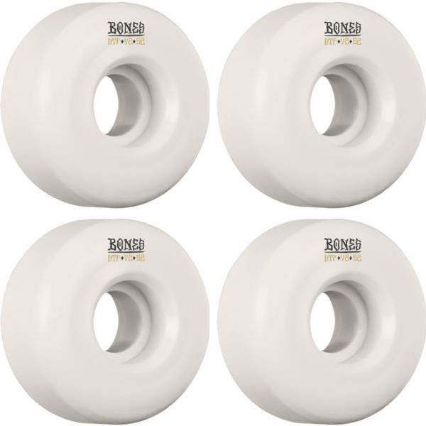 Bones Wheels STF Blanks V2 White Skateboard Wheels - 52mm 103a (Set of 4)