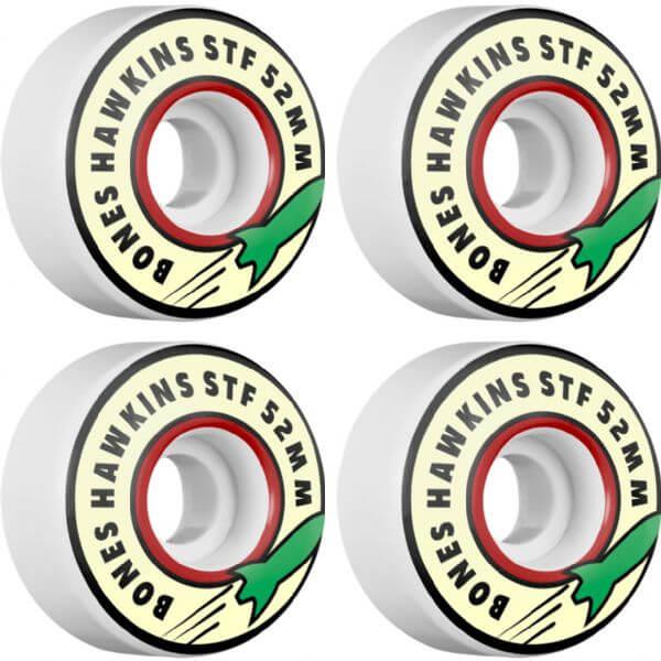 Bones Wheels Josh Hawkins Pro STF Rocket White Skateboard Wheels - 52mm 83b (Set of 4)