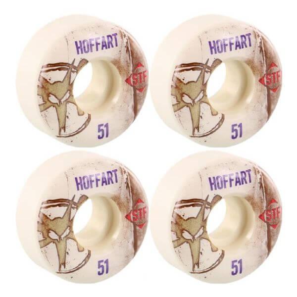 Bones Wheels Jordan Hoffart Pro STF Vintage White Skateboard Wheels - 51mm 83b (Set of 4)