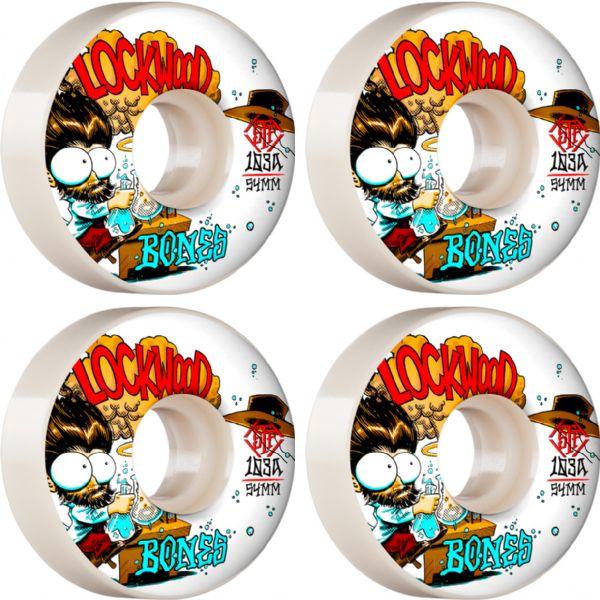 Bones Wheels Cody Lockwood STF V3 Experi-Mental White Skateboard Wheels - 54mm 83b (Set of 4)