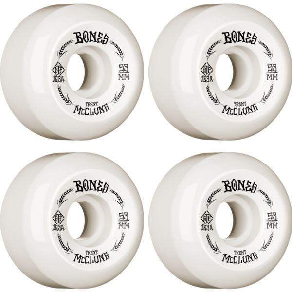 Bones Wheels Trent McClung STF Oats V5 White / Black Skateboard Wheels - 53mm 83b (Set of 4)