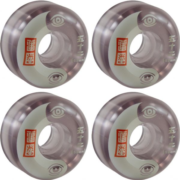Element Skateboards Timber Black / Clear Skateboard Wheels - 52mm 99a (Set of 4)