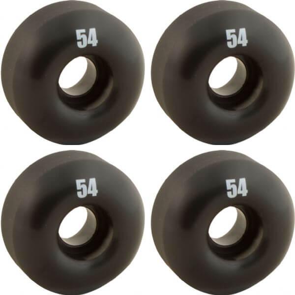 Essentials Black Skateboard Wheels - 54mm 99a (Set of 4)