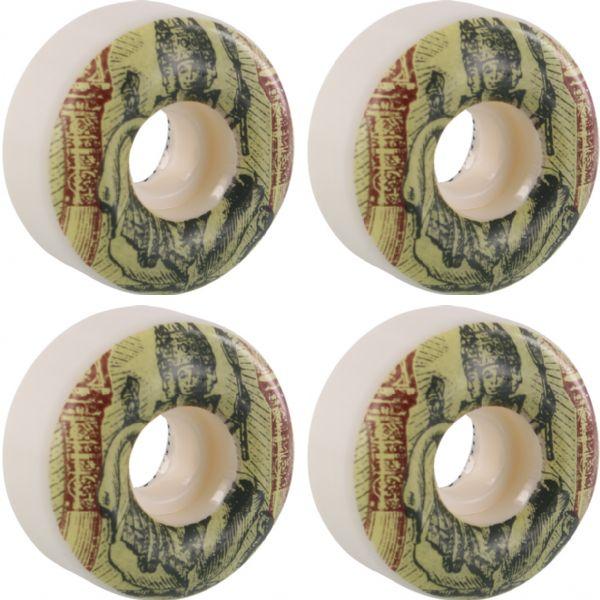 Girl Skateboards Postal OG Staple White Skateboard Wheels - 54mm 99a (Set of 4)
