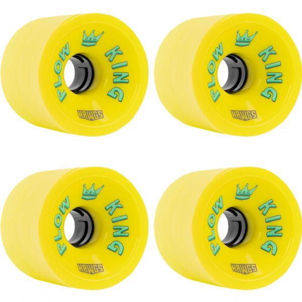 Hawgs Wheels Plow King Flat Banana Yellow Skateboard Wheels - 72mm 78a (Set of 4)
