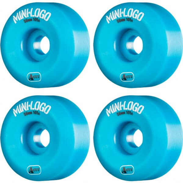Mini Logo A-Cut Blue Skateboard Wheels - 56mm 101a (Set of 4)