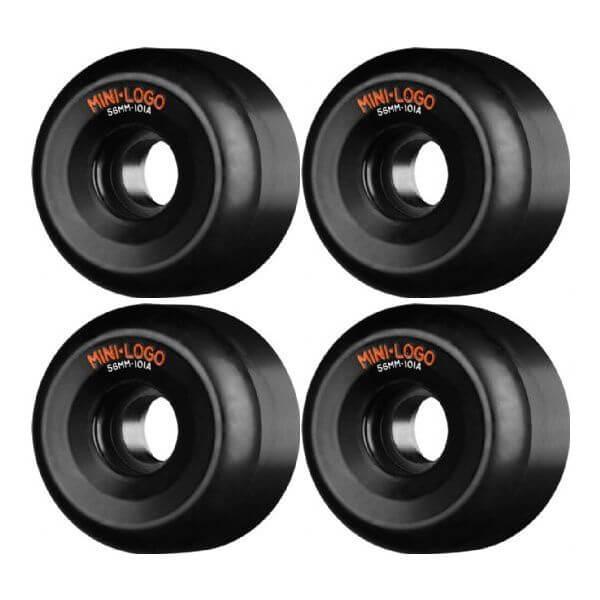Mini Logo A-Cut Black Skateboard Wheels - 56mm 101a (Set of 4)
