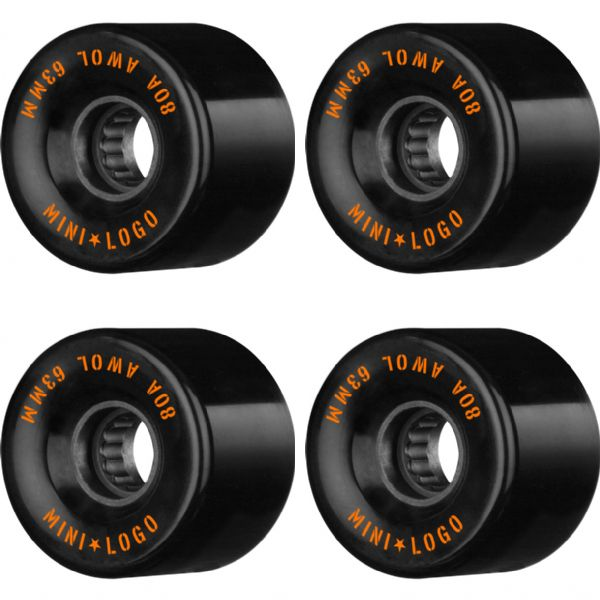 Mini Logo ATF A.W.O.L Black Skateboard Wheels - 63mm 80a (Set of 4)