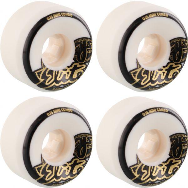 OJ Wheels Elite Mini Combo White Skateboard Wheels - 56mm 101a (Set of 4)