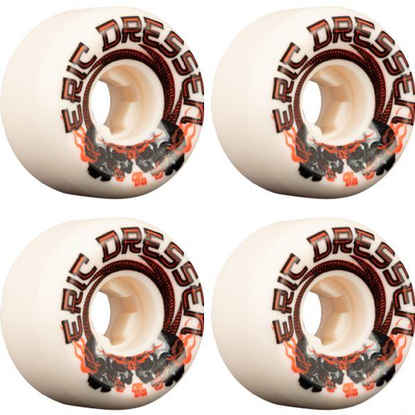 OJ Wheels Eric Dressen Elite Mini Combo White Skateboard Wheels - 56mm 101a (Set of 4)