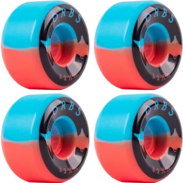 Orbs Wheels Specters Blue / Coral Skateboard Wheels - 52mm 99a (Set of 4)