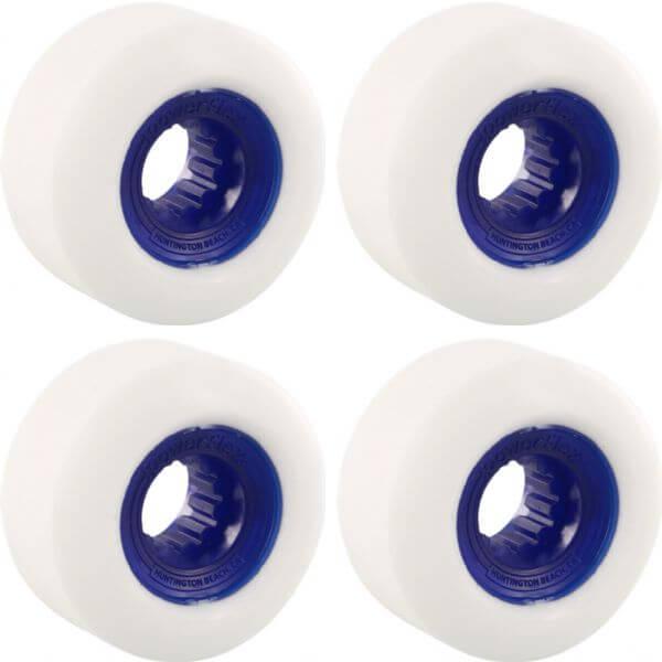 Powerflex Skateboards Gumball White / Blue Skateboard Wheels - 60mm 83b (Set of 4)