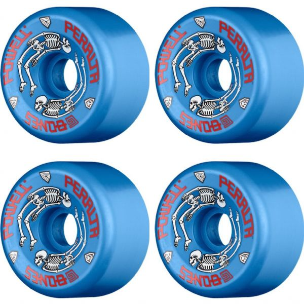 Powell Peralta G Bones Blue Skateboard Wheels - 64mm 97a (Set of 4)