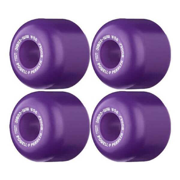 Powell Peralta Mini-Cubic Purple Skateboard Wheels - 64mm 95a (Set of 4)
