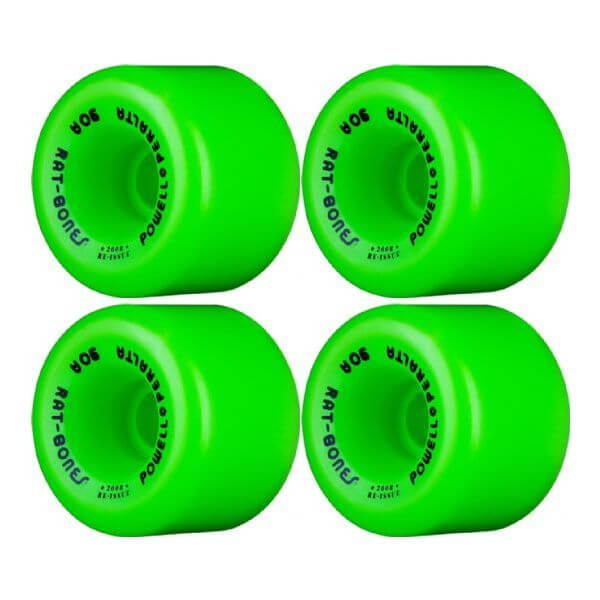 Powell Peralta Rat Bones Green Skateboard Wheels - 60mm 90a (Set of 4)