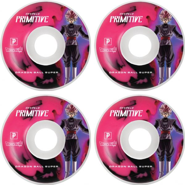 Primitive Skateboarding Goku Black Rose White / Pink Skateboard Wheels - 54mm 101a (Set of 4)