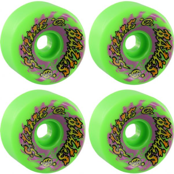 Santa Cruz Skateboards Slimeballs Big Balls Gooberz Green Skateboard Wheels - 65mm 97a (Set of 4)