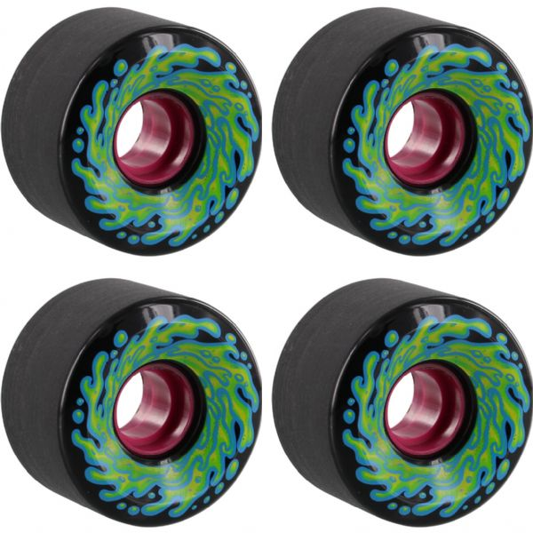 Santa Cruz Skateboards Slimballs OG Slime Black Skateboard Wheels - 60mm 78a (Set of 4)
