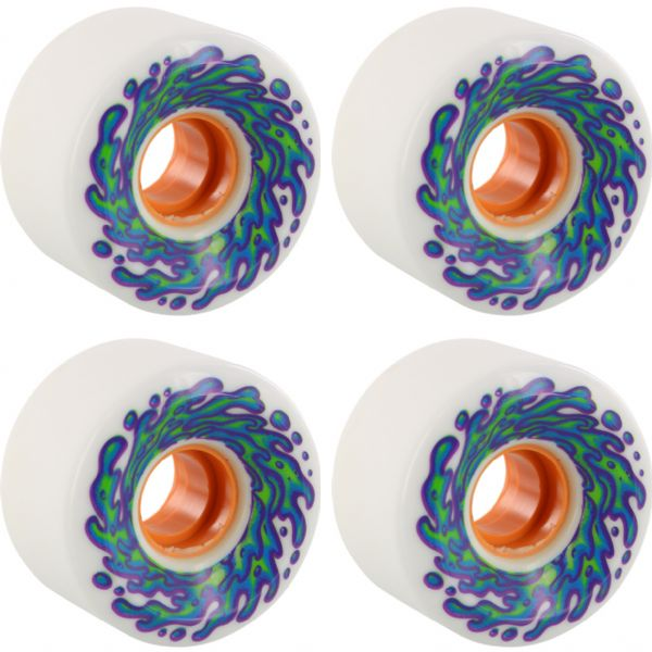 Santa Cruz Skateboards Slimeballs OG Slime White / Orange Skateboard Wheels - 60mm 78a (Set of 4)