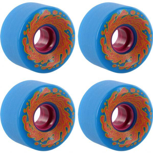 Santa Cruz Skateboards Slimeballs OG Slime Neon Blue / Pink Skateboard Wheels - 60mm 78a (Set of 4)