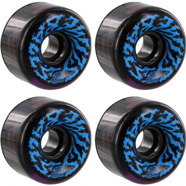 Santa Cruz Skateboards Swirly Slime Balls Black Purple Swirl Skateboard Wheels - 65mm 78a (Set of 4)