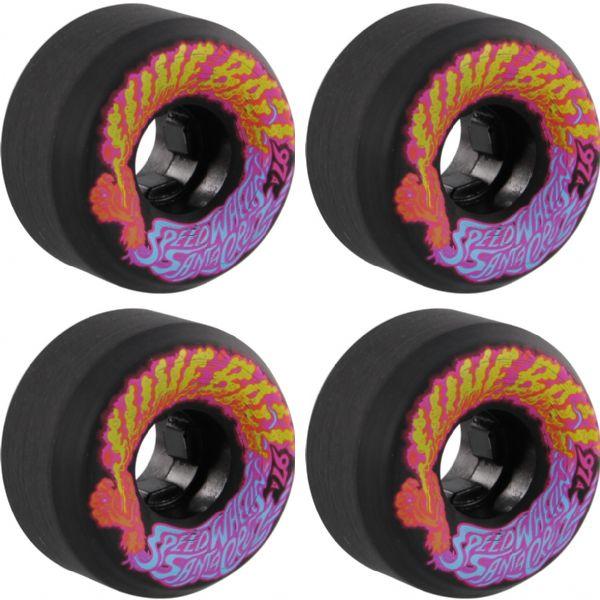 Santa Cruz Skateboards Slimeballs Vomits Mini Black Skateboard Wheels - 54mm 97a (Set of 4)