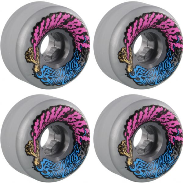 Santa Cruz Skateboards Slimeballs Vomits Mini Silver Metallic Skateboard Wheels - 56mm 97a (Set of 4)