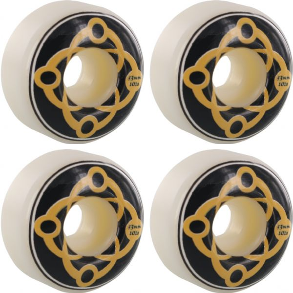 Satori Movement Big Link White / Blue Skateboard Wheels - 53mm 101a (Set of 4)