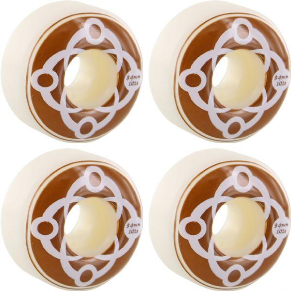 Satori Movement Big Link White / Brown / White Skateboard Wheels - 54mm 101a (Set of 4)