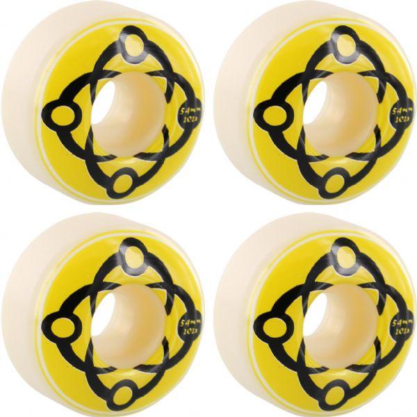 Satori Movement Big Link White / Yellow / Black Skateboard Wheels - 54mm 101a (Set of 4)