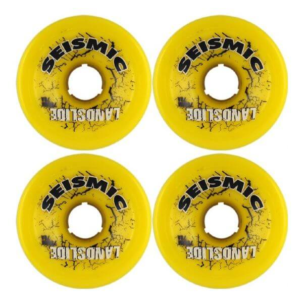 Seismic Skate Systems Landslide Yellow Skateboard Wheels - 75mm 79a (Set of 4)