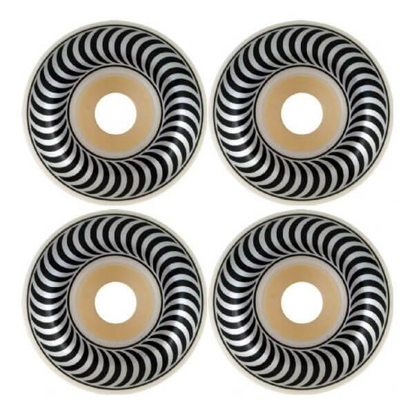 Spitfire Wheels Classics White / Black Skateboard Wheels - 54mm 99a (Set of 4)
