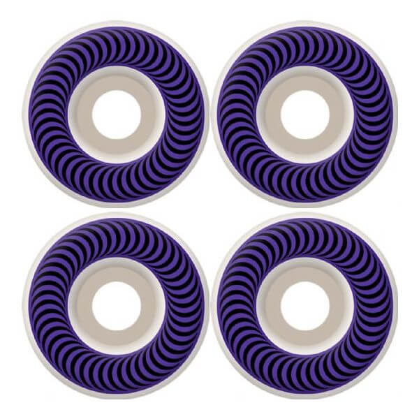 Spitfire Wheels Classics Purple / Black Skateboard Wheels - 58mm 99a (Set of 4)