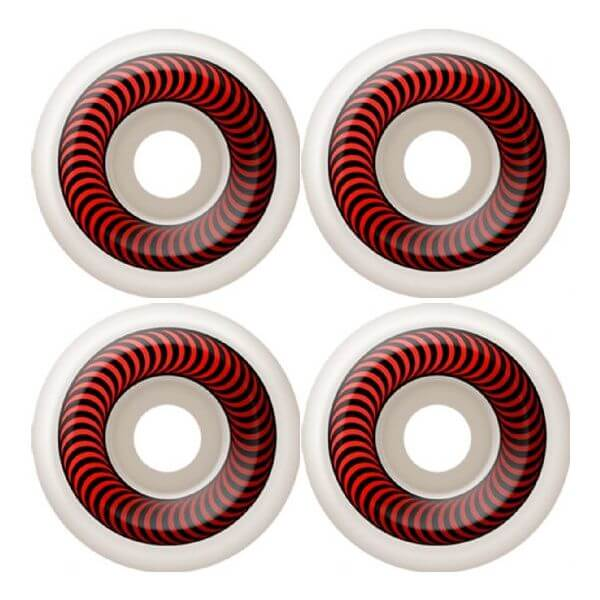 Spitfire Wheels Classics White / Red Skateboard Wheels - 60mm 99a (Set of 4)