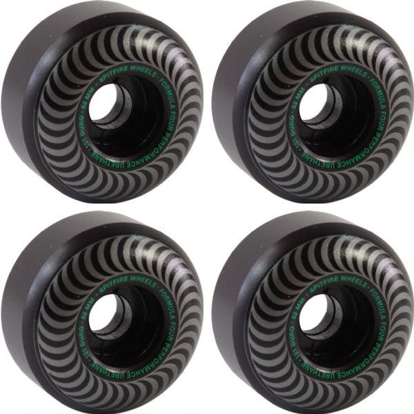 Spitfire Wheels Formula Four Classic Blackout Skateboard Wheels - 52mm 101a (Set of 4)