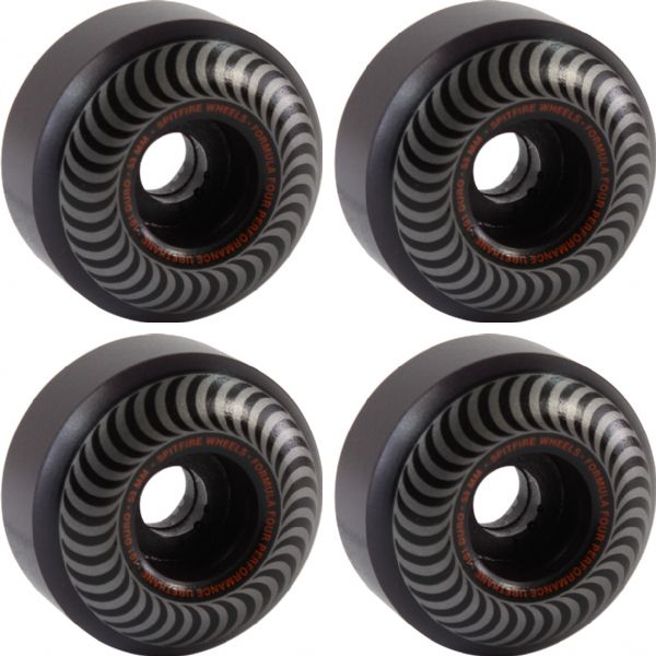 Spitfire Wheels Formula Four Classic Blackout Skateboard Wheels - 53mm 101a (Set of 4)