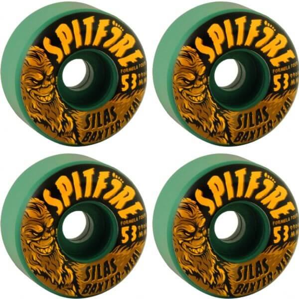 spitfire wheels formula 4. spitfire wheels skunk ape formula four radial skateboard 4