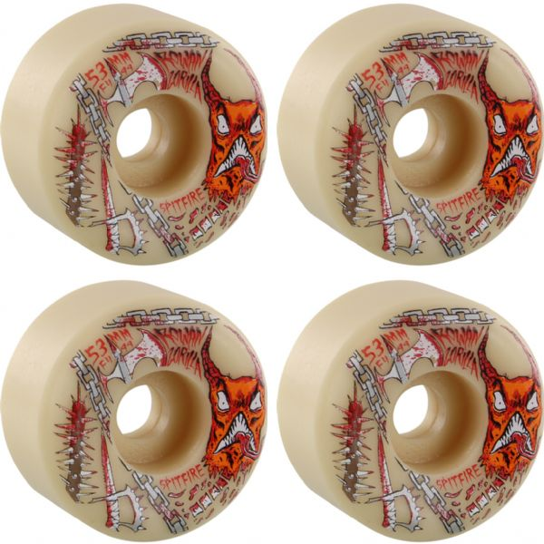 Spitfire Wheels Rowan Zorilla Formula Four Neckface Natural Skateboard Wheels - 53mm 99a (Set of 4)