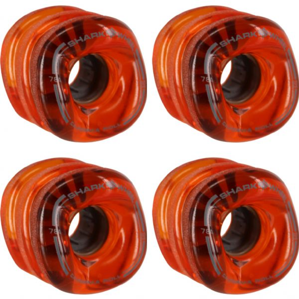 Shark Wheels California Roll Transparent Lava Skateboard Wheels - 60mm 78a (Set of 4)